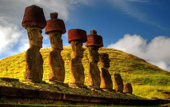 Luoghi ad Alta Energia I Moai giganti dell'Isola di Pasqua
