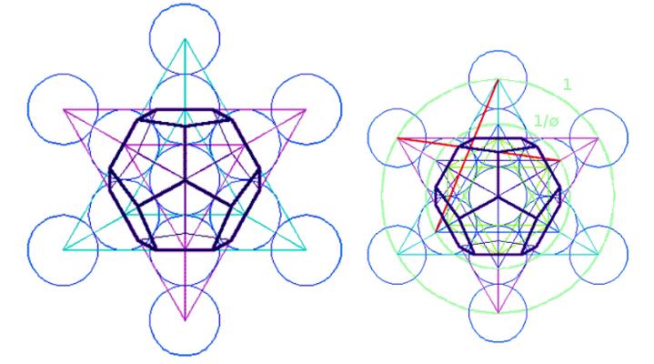 LA REALTÀ POLIGONALE foto Φ cubo metatron
