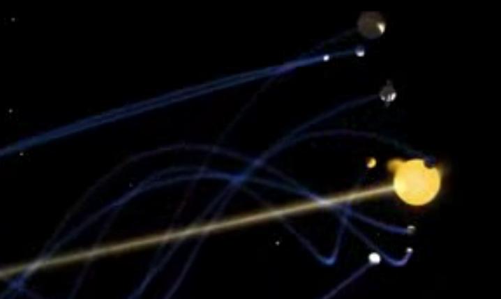 rotazione frattale sistema 8 pianeti 2 soli giove sole
