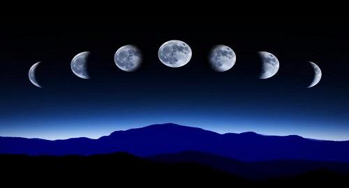 le fasi della luna