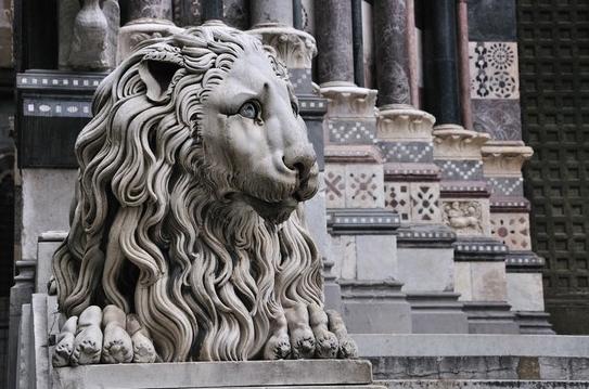 leone ingresso SEGRETI DELLE CATTEDRALI